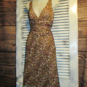 Trina Turk Sz 4 Silk Leopard Dress